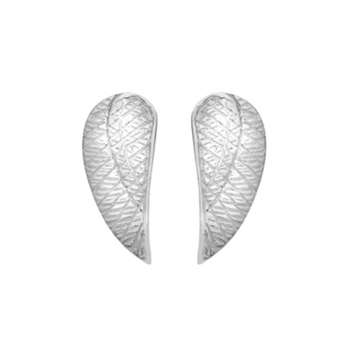 Silver Angel Wing Studs